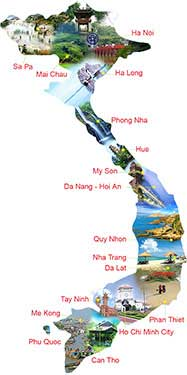 map vietnam