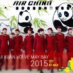 Bảng giá vé máy bay Tết Ất Mùi 2015, hãng Air China