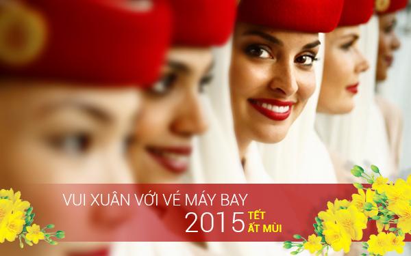 Bảng giá vé máy bay Tết Ất Mùi 2015 hãng Emirates Airlines