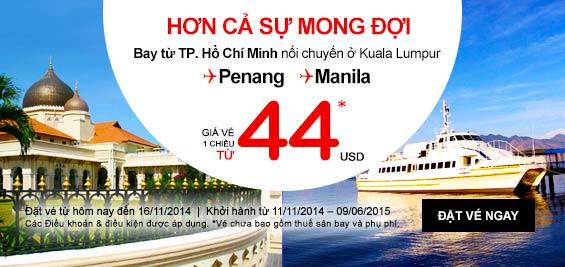 Chương trình khuyến mãi đặc biệt từ Air Asia