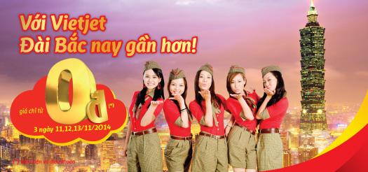 Khẽ chạm đến Đài Bắc với vé máy bay Vietjet Air giá siêu rẻ