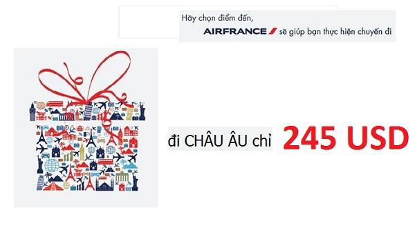 Bay đến châu Âu cùng vé máy bay giá rẻ Airfrance Airlines