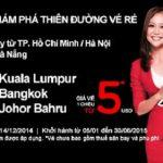 Mừng sinh nhật Air Asia lần 13 với vé máy bay giá rẻ từ 5USD