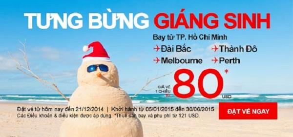 Chào đón Giáng sinh với vé máy bay Air Asia giá hấp dẫn
