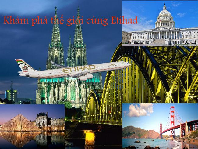 Cùng Etihad Airways bay đến châu Âu với giá vé từ 764 USD