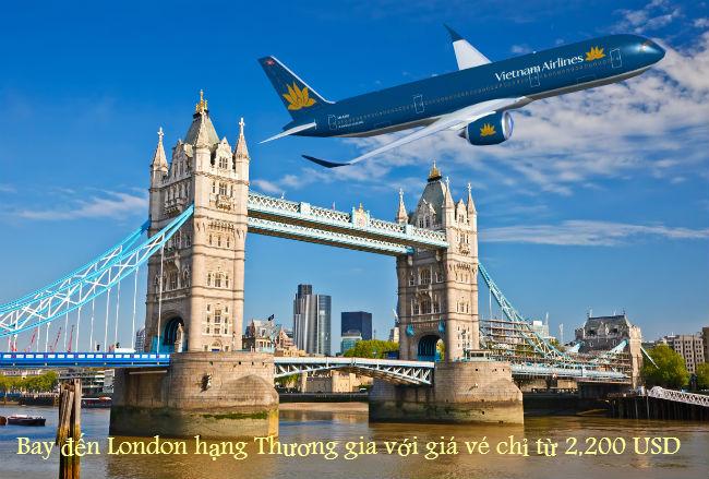 Vietnam Airlines khuyến mãi hấp dẫn cho chuyến bay đến London