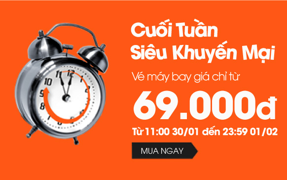 Jetstar: Khuyến mãi cuối tuần vé máy bay chỉ từ 69.000 đồng