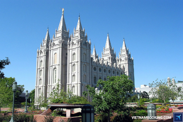 ve may bay di Salt Lake City
