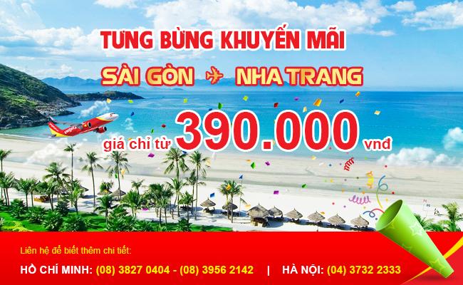 Vé máy bay khuyến mãi VietJet Air tại Vietnam Booking