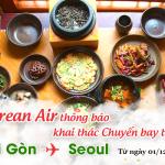Korean Air thông báo tăng chuyến chặng TP.HCM – Seoul