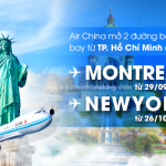 Air China: Thông báo mở 2 đường bay mới