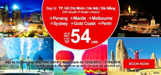 Cung Air Asia du lich tiet kiem chi tu 11 USD