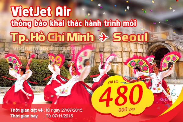 Vé máy bay VietJet Air đi Seoul giá rẻ nhất