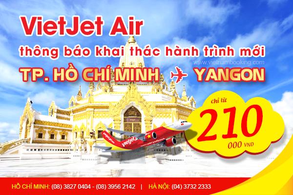 Vé máy bay đi Yangon giá rẻ tại Vietnam Booking