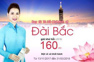 Vietnam Airlines: Vé khứ hồi 160 USD, bay Đài Bắc siêu rẻ
