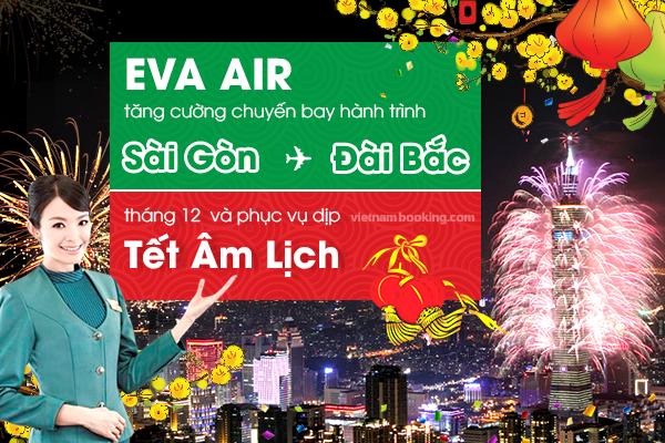 Mua vé máy bay EVA Air tại Vietnam Booking