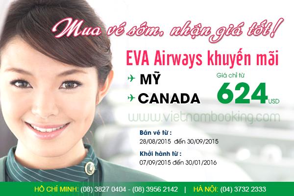 Vé máy bay hãng EVA Air giá rẻ