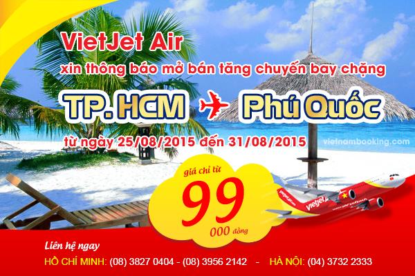 Vé máy bay giá rẻ đi Phú Quốc hãng VietJet Air
