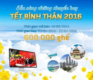 Vietnam Airlines: Chính thức mở bán 600,000 vé Tết 2016