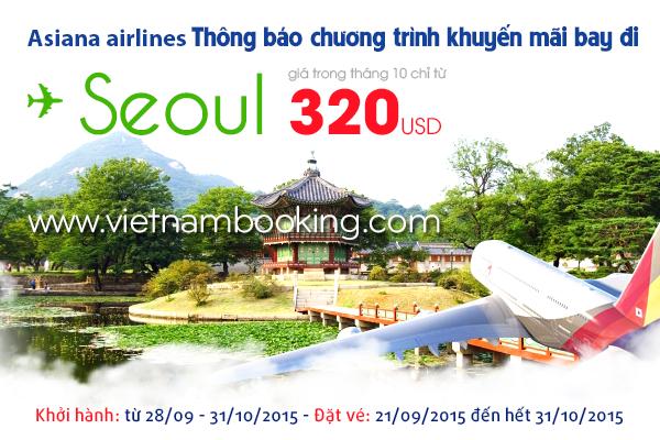 Mua vé máy bay Asiana Airlines giá rẻ