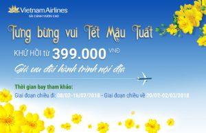 Vietnam Airlines ưu đãi đặc biệt dịp tết, vé chỉ 399,000Đ