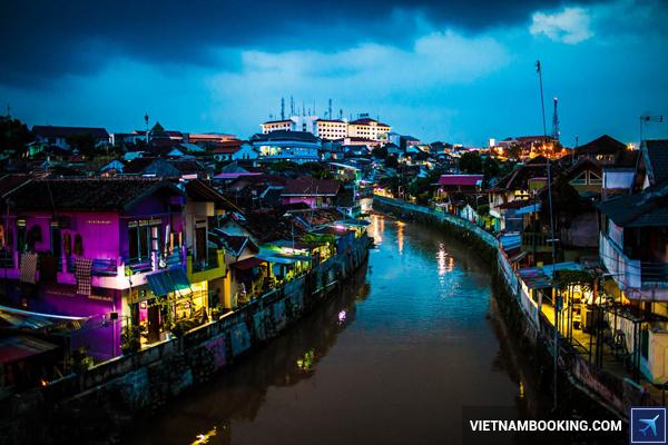 Yogyakarta Indonesia Night River View