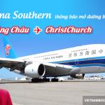 China Southern mở đường bay mới Quảng Châu – ChristChurch