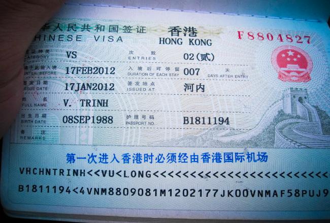 Dịch vụ làm visa đi Hong Hong uy tín