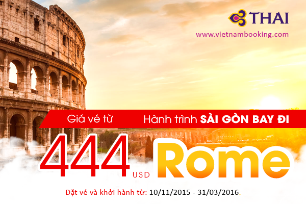 ve may bay di rome gia re