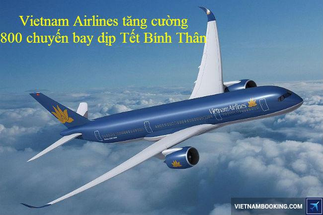 ve may bay vietnam airlines tet