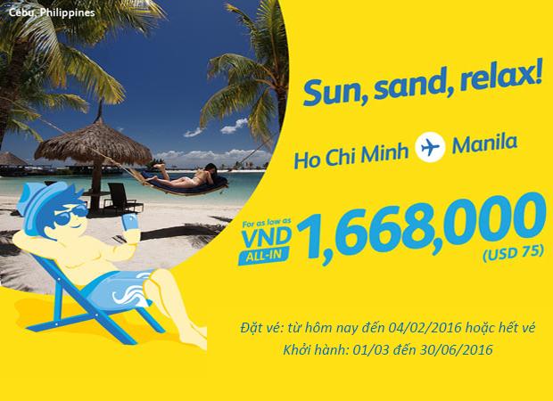 Cebu Pacific: Săn vé giá rẻ đi Manila từ 1,668,000 đồng
