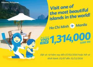 Cebu Pacific: Tung vé khuyến mãi đi Manila chỉ từ 1,314,000 đồng