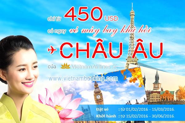 Vietnam Airlines: Bay đến châu Âu khứ hồi chỉ từ 450 USD