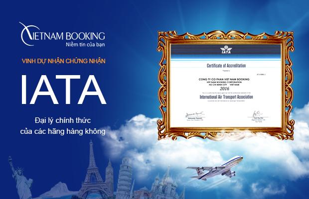 Chứng nhận IATA - Vietnam Booking đại lý vé uy tín