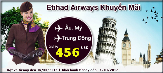Etihad Airways: Chu du khắp Châu Âu, Trung Đông và Mỹ