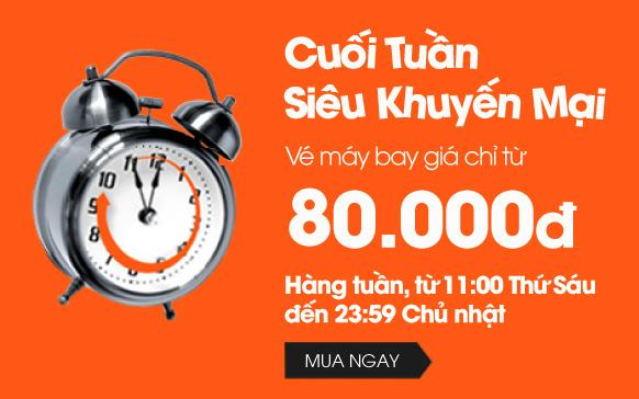 Jetstar khuyến mãi vé giá rẻ, từ 80,000 VND!
