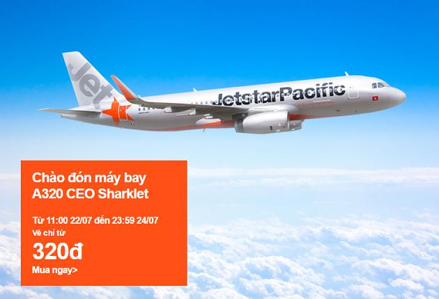 Jetstar tung vé 320 VND mừng máy bay A320 CEO Sharklet