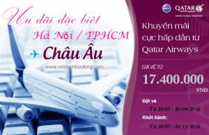 Qatar Airways khuyến mãi giá vé hấp dẫn đi châu Âu!