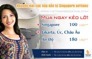 Singapore Airlines: Hè bất tận cùng hàng loạt vé giá rẻ!