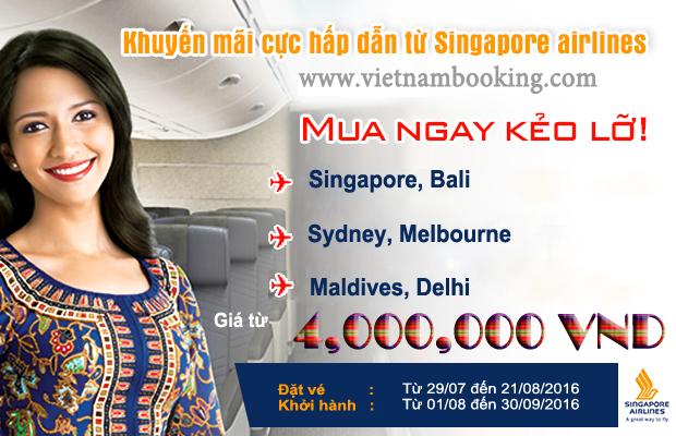 Cơ hội vàng săn vé rẻ Singapore Airlines