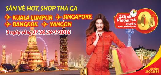 Vietjet Air: Bay khắp Đông Nam Á cùng vé 0 đồng