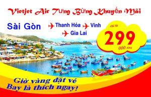 Vietjet Air: Du lịch giá rẻ chỉ từ 299,000 đồng