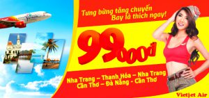 Vietjet Air: Khuyến mãi vé siêu rẻ chỉ từ 99,000 đồng