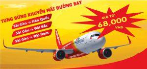Vietjet Air: Siêu khuyến mãi vé rẻ đi Đông Bắc Á