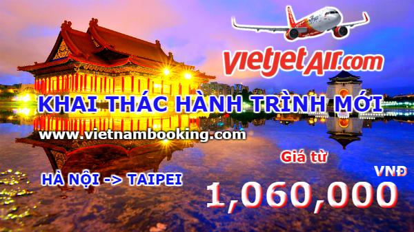 Vietjet Air: Giá vé hấp dẫn cho hành trình mới Hà Nội – Taipei