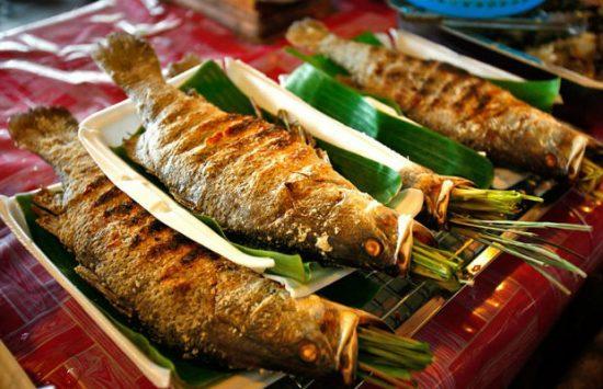 Cá nướng ở Điện Biên