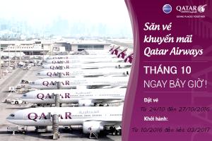Qatar Airways: Ưu đãi đặc biệt tháng 10!