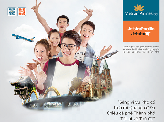 30 phút sẽ có 1 chuyến bay giữa Hà Nội, Đà Nẵng và TPHCM