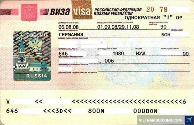 thu tuc xin visa di du lich nga