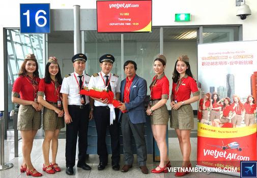 Vietjet Air: Chào mừng chuyến bay TPHCM – Đài Trung đầu tiên cất cánh